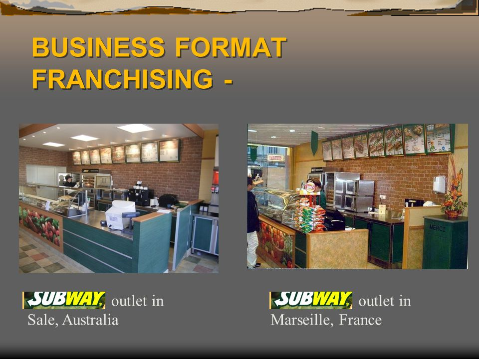 BUSINESS FORMAT FRANCHISING -
