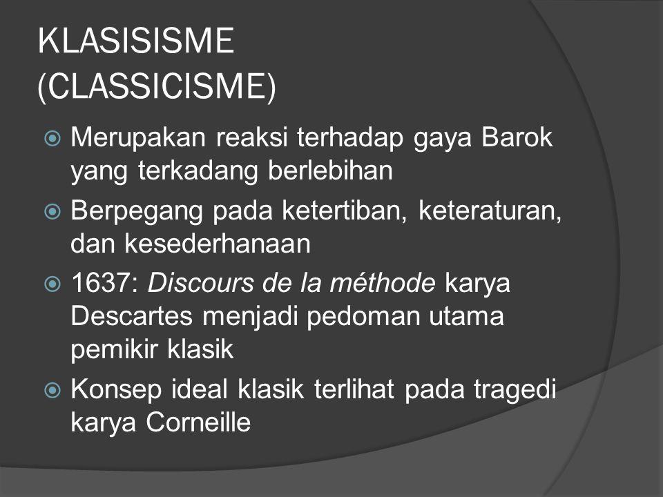 KLASISISME (CLASSICISME)