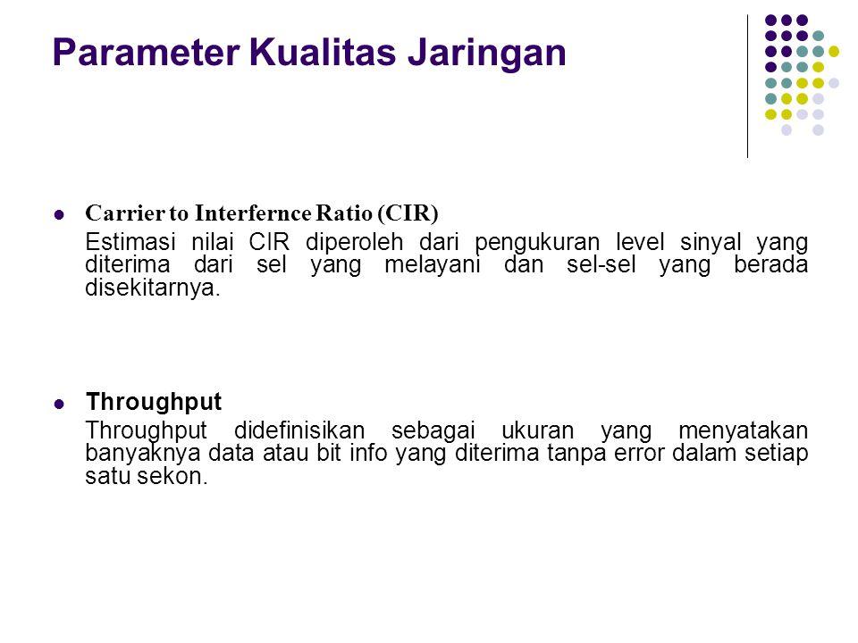 Parameter Kualitas Jaringan