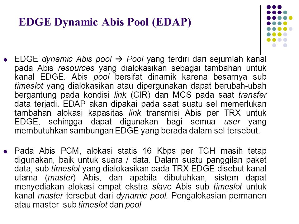 EDGE Dynamic Abis Pool (EDAP)