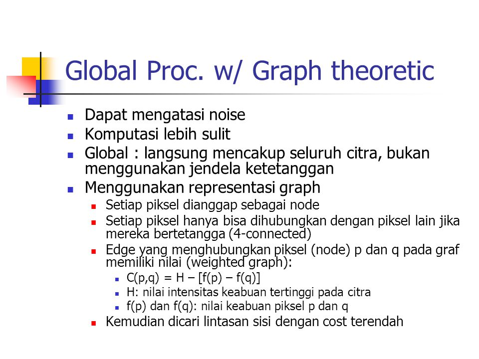 Global Proc. w/ Graph theoretic