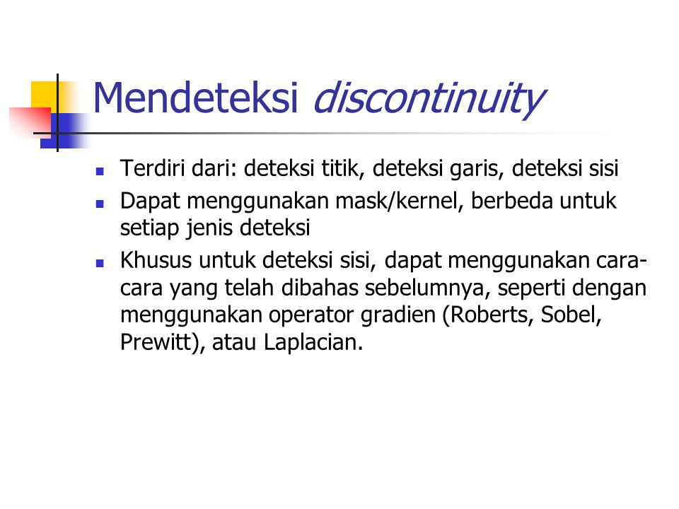 Mendeteksi discontinuity