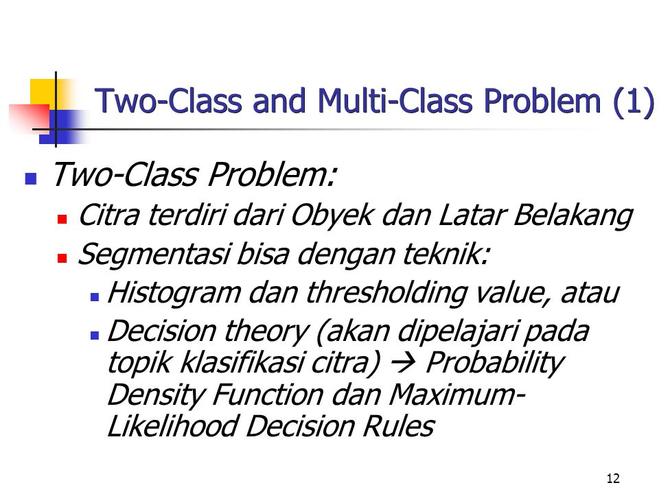 Two-Class and Multi-Class Problem (1)