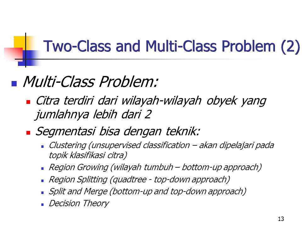 Two-Class and Multi-Class Problem (2)