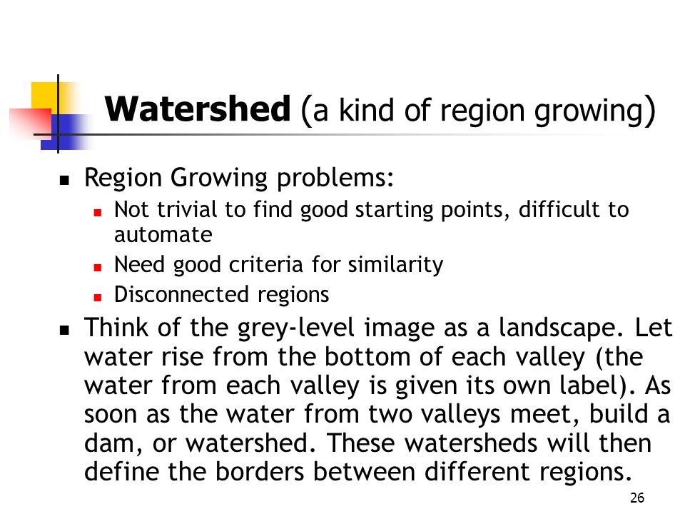 Region Growing problems: