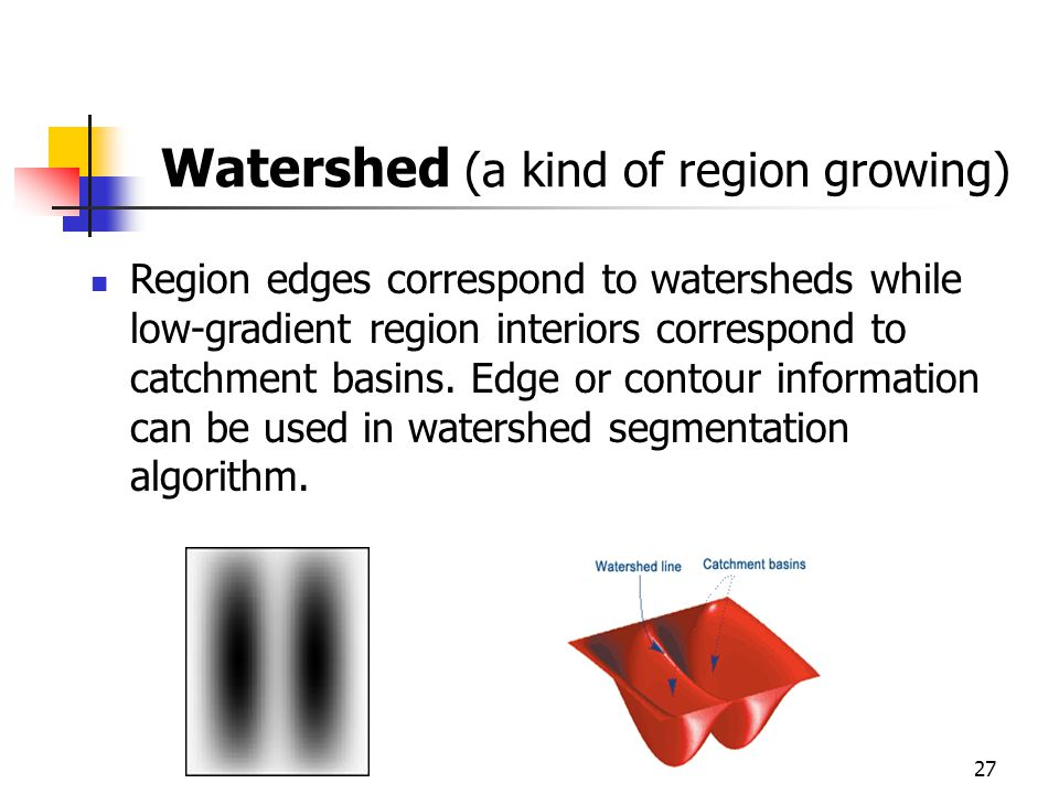 Watershed (a kind of region growing)