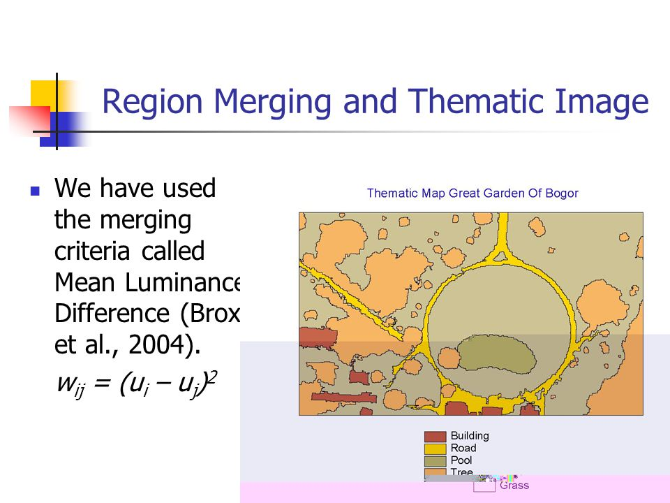 Region Merging and Thematic Image