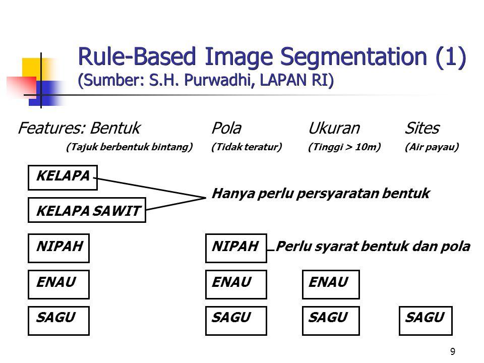 Rule-Based Image Segmentation (1) (Sumber: S.H. Purwadhi, LAPAN RI)