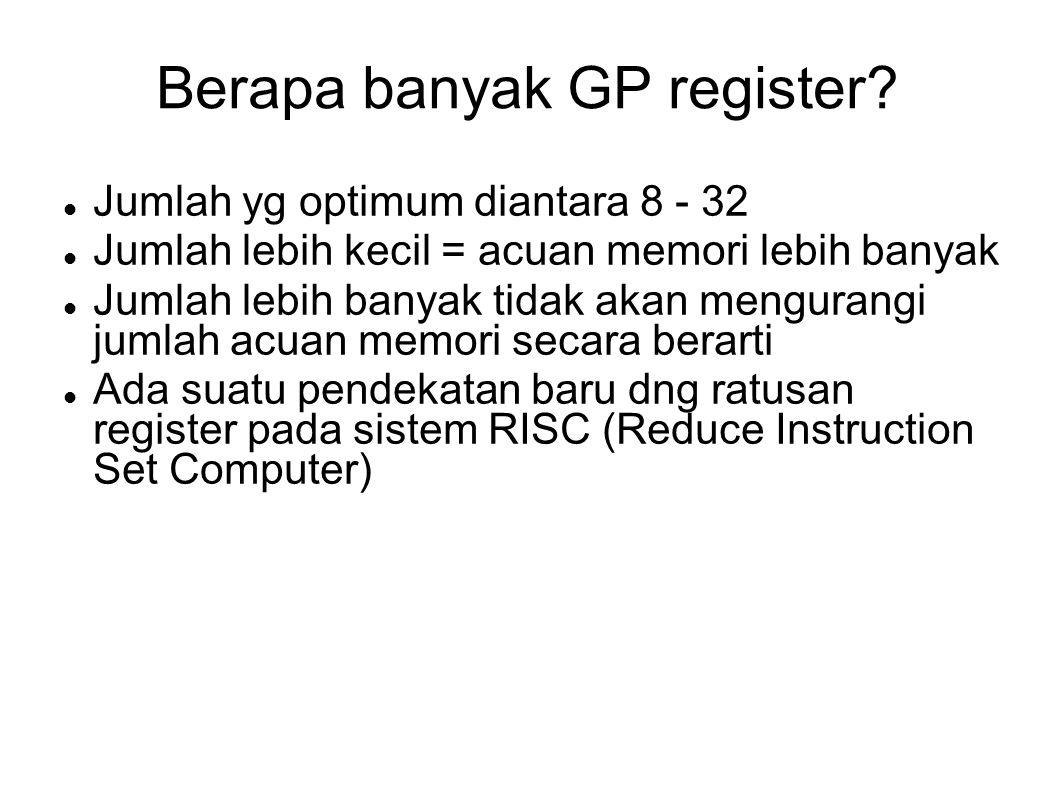 Berapa banyak GP register