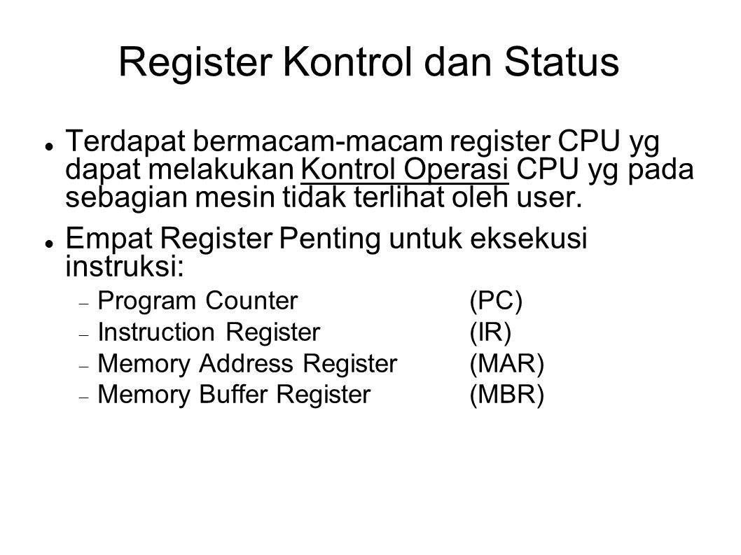 Register Kontrol dan Status