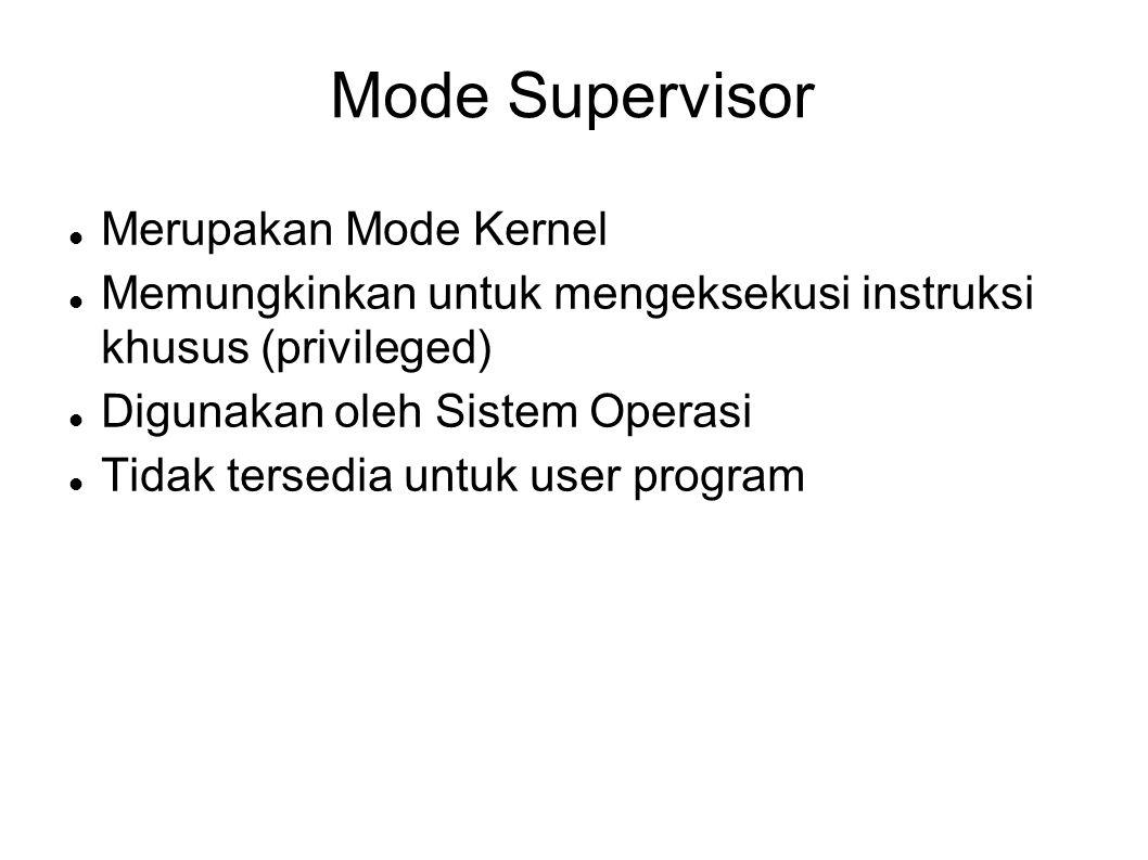 Mode Supervisor Merupakan Mode Kernel