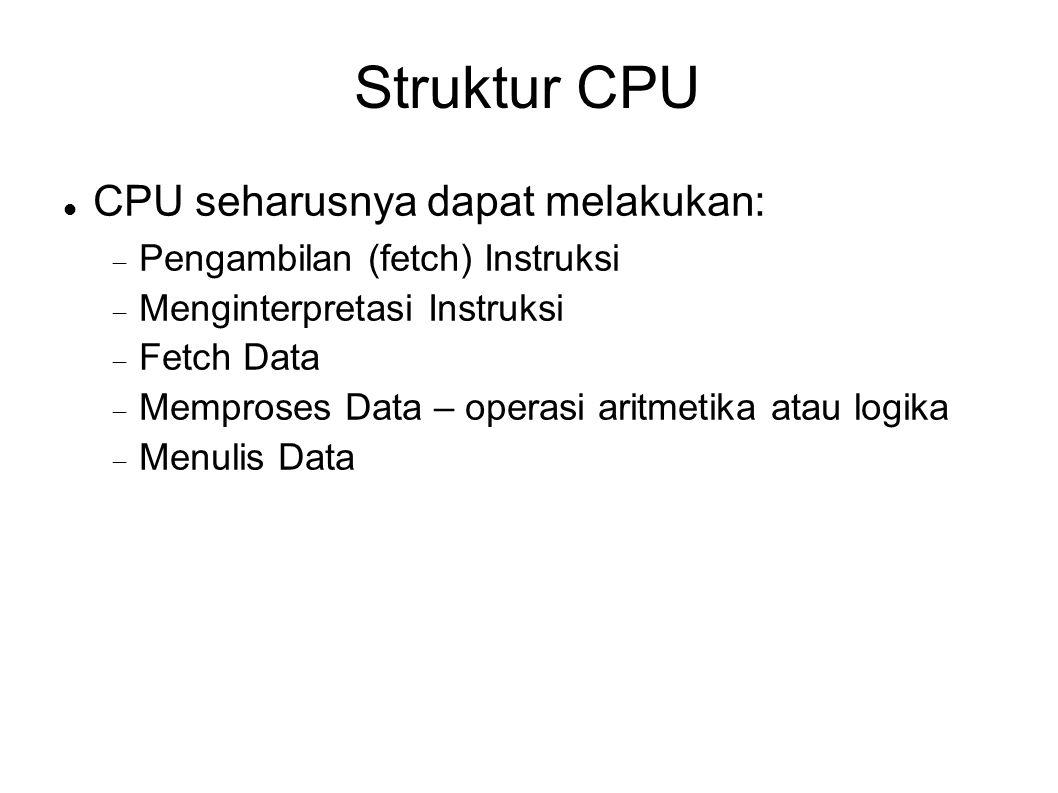 Struktur CPU CPU seharusnya dapat melakukan: