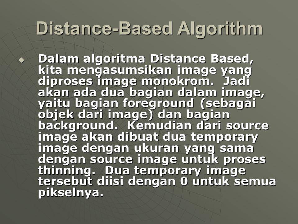 Distance-Based Algorithm
