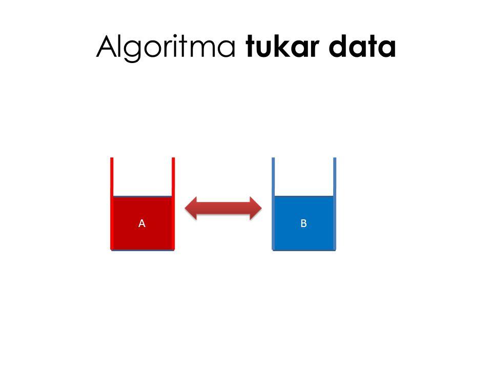 Algoritma tukar data A B