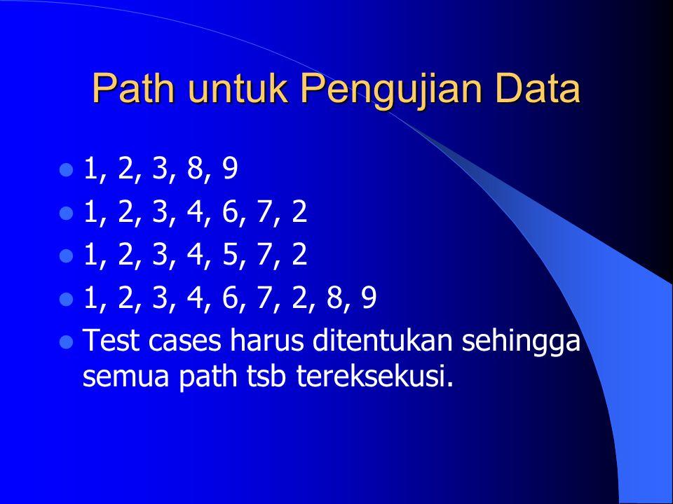 Path untuk Pengujian Data