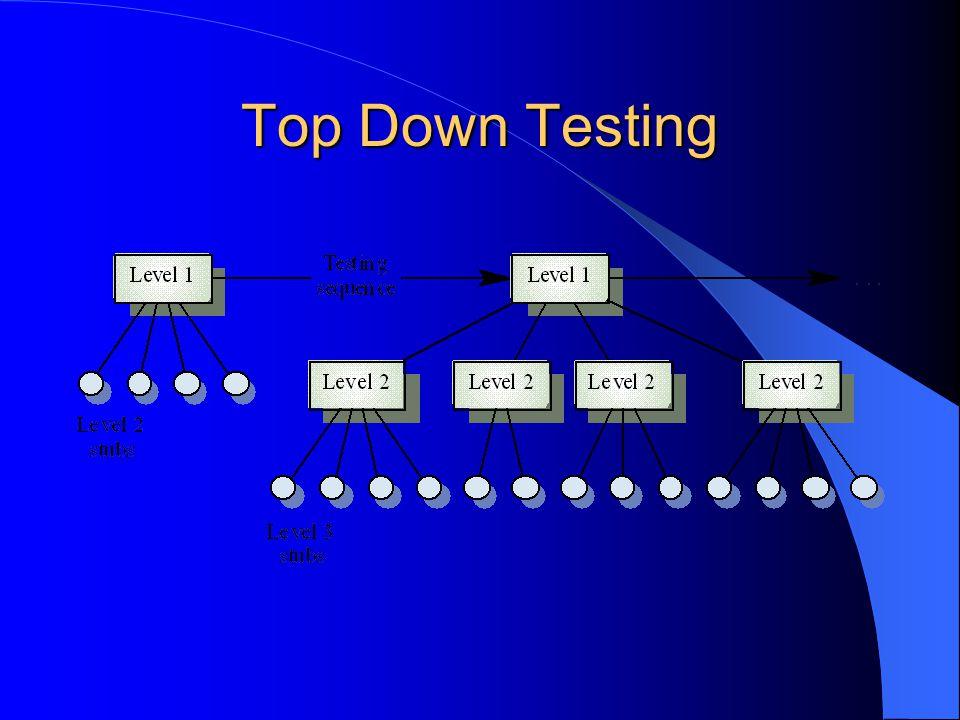 Top Down Testing