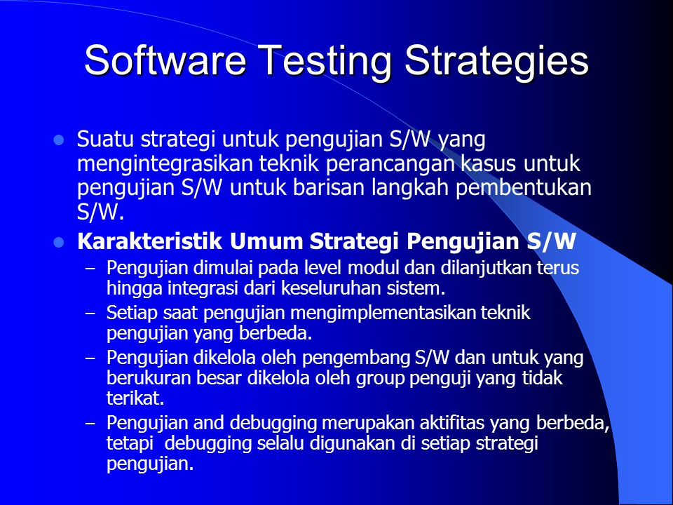 Software Testing Strategies