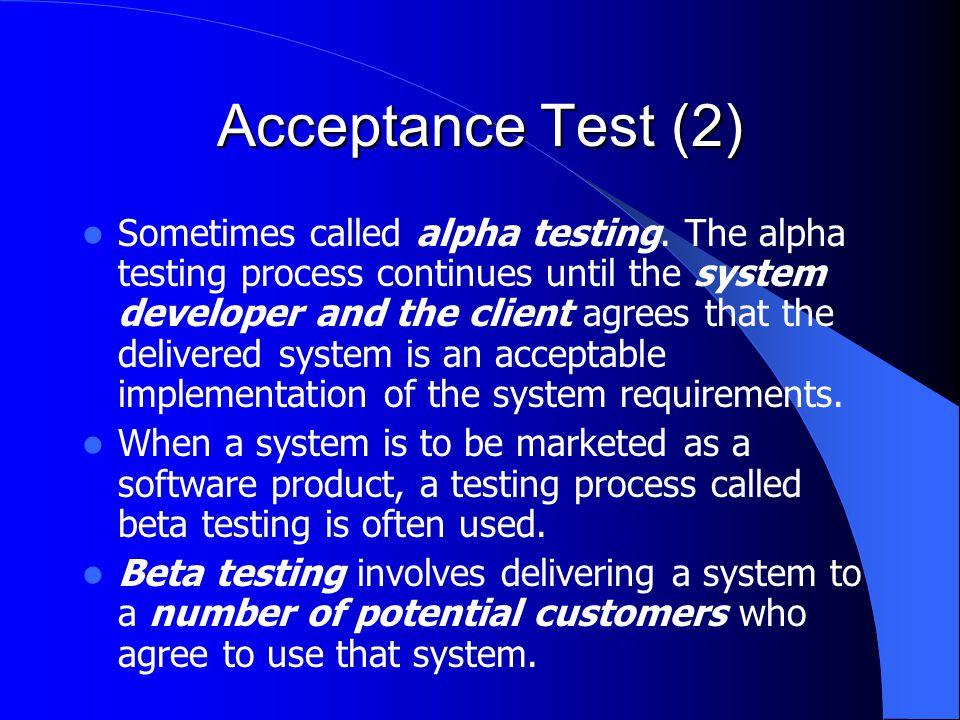 Acceptance Test (2)