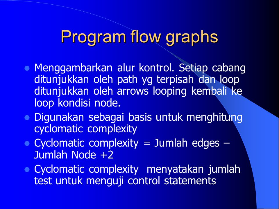 Program flow graphs