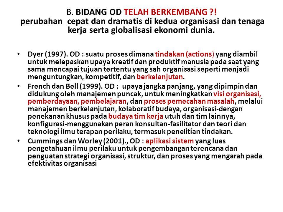 B. BIDANG OD TELAH BERKEMBANG
