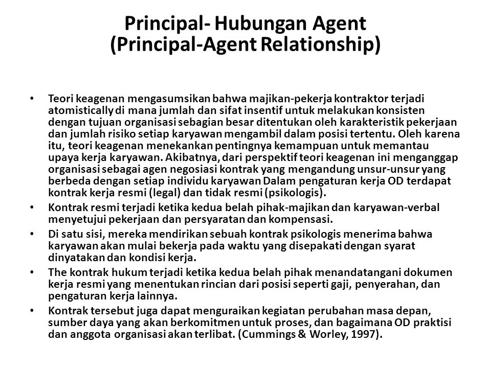 Principal- Hubungan Agent (Principal-Agent Relationship)