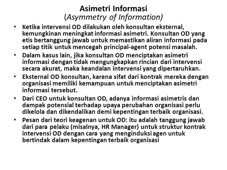 Asimetri Informasi (Asymmetry of Information)
