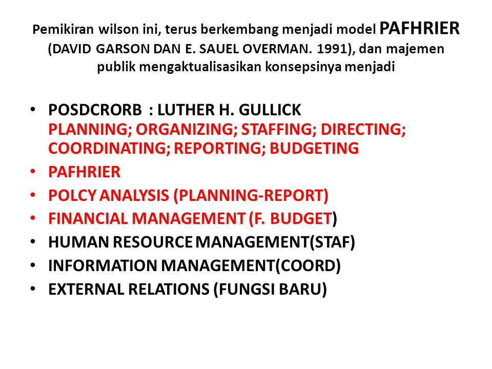 POLCY ANALYSIS (PLANNING-REPORT) FINANCIAL MANAGEMENT (F. BUDGET)
