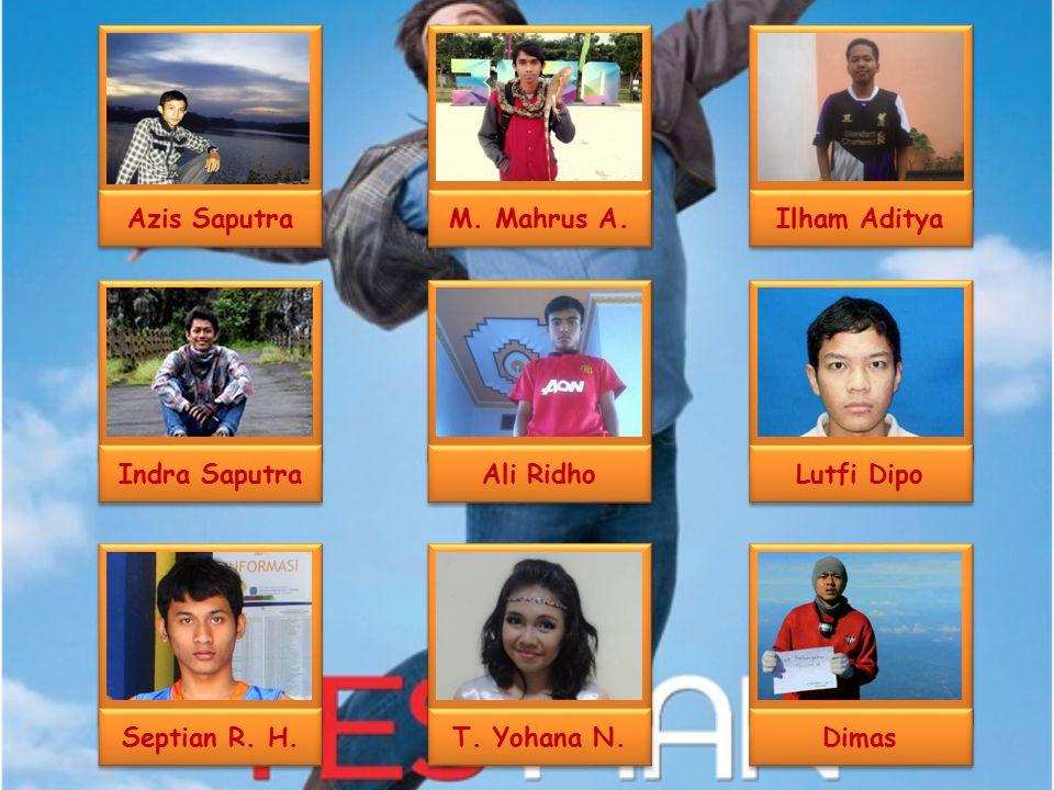 Azis Saputra Indra Saputra. Septian R. H. M. Mahrus A. Ali Ridho. T. Yohana N. Ilham Aditya. Dimas.