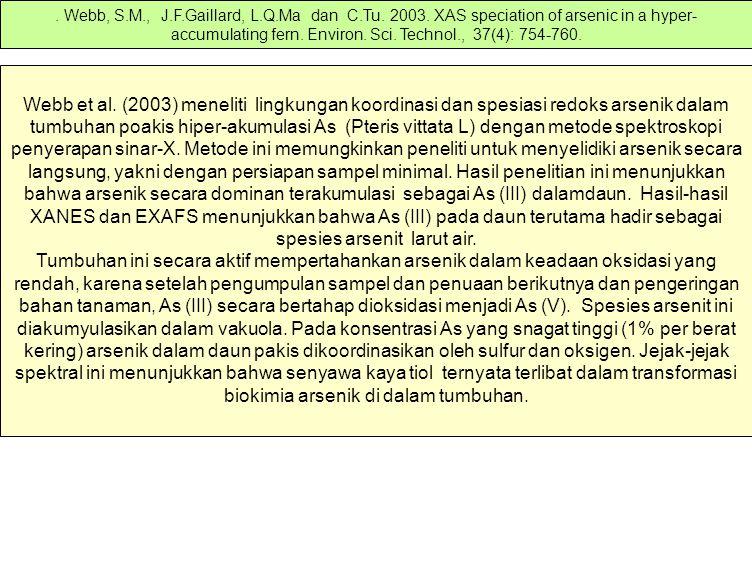 Webb, S. M. , J. F. Gaillard, L. Q. Ma dan C. Tu. 2003