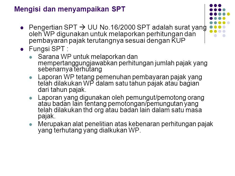 Mengisi dan menyampaikan SPT