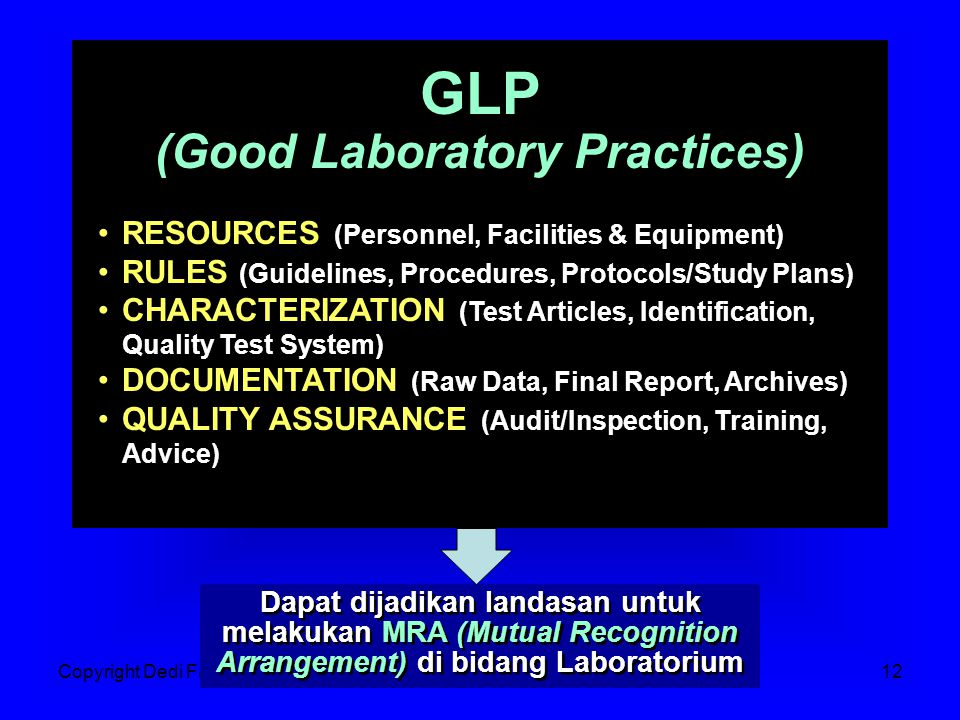 (Good Laboratory Practices)