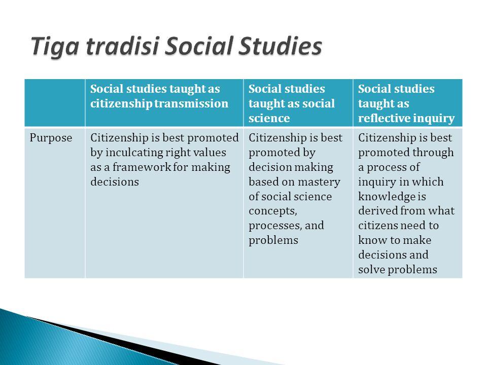Tiga tradisi Social Studies
