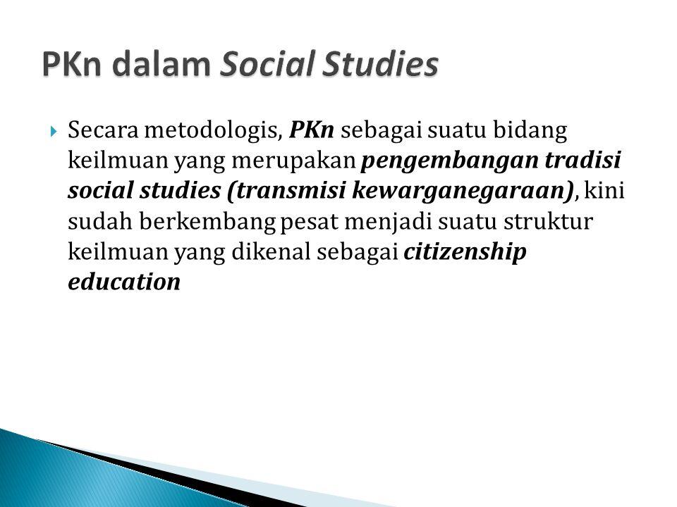 PKn dalam Social Studies