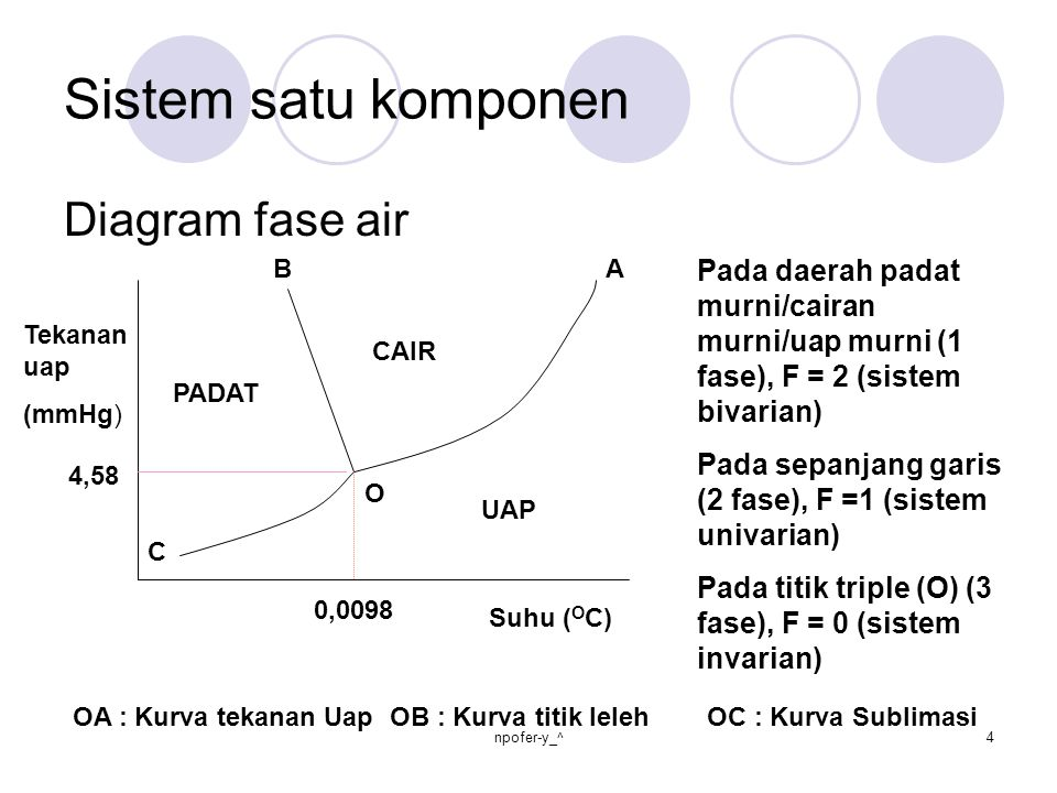 Sistem satu komponen Diagram fase air