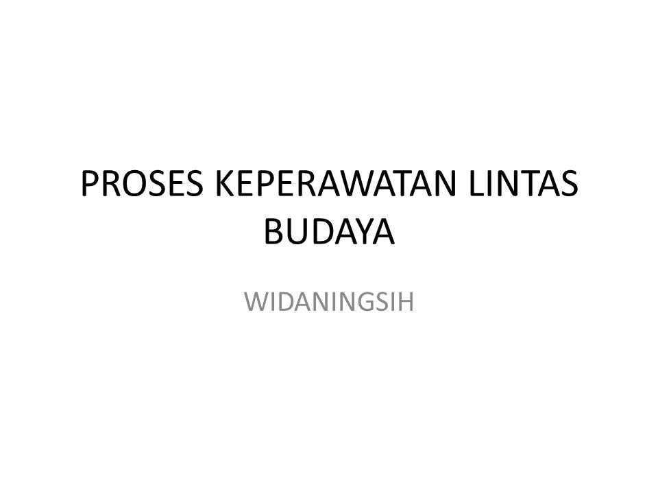 PROSES KEPERAWATAN LINTAS BUDAYA