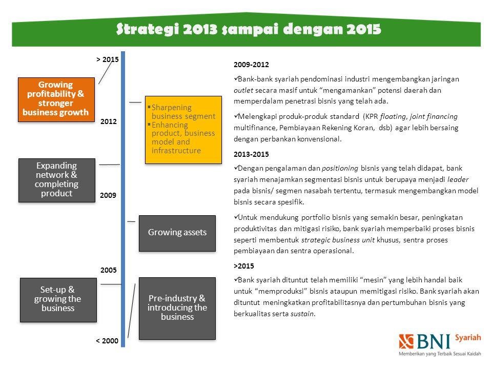 Strategi 2013 sampai dengan 2015