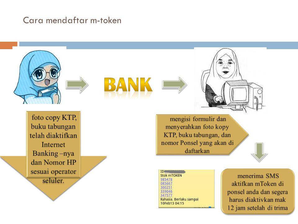 Cara mendaftar m-token
