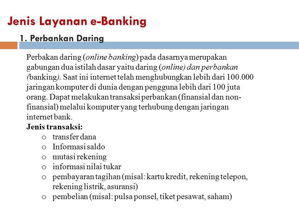 Jenis Layanan e-Banking