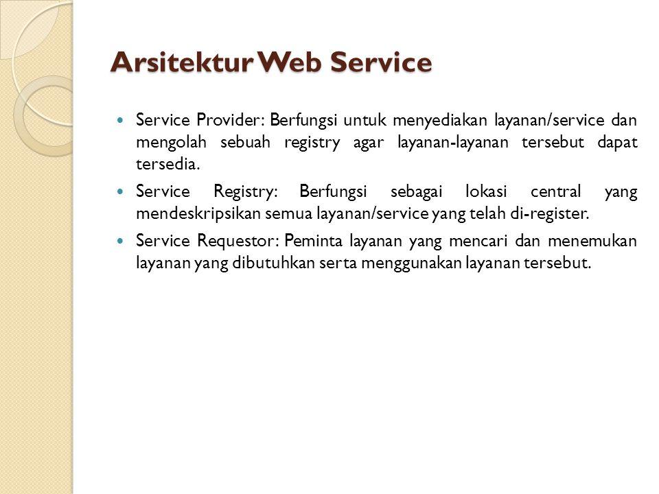 Arsitektur Web Service