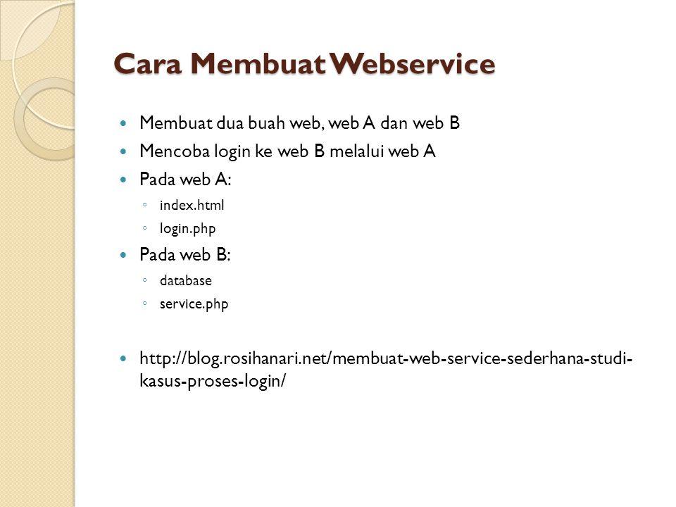 Cara Membuat Webservice