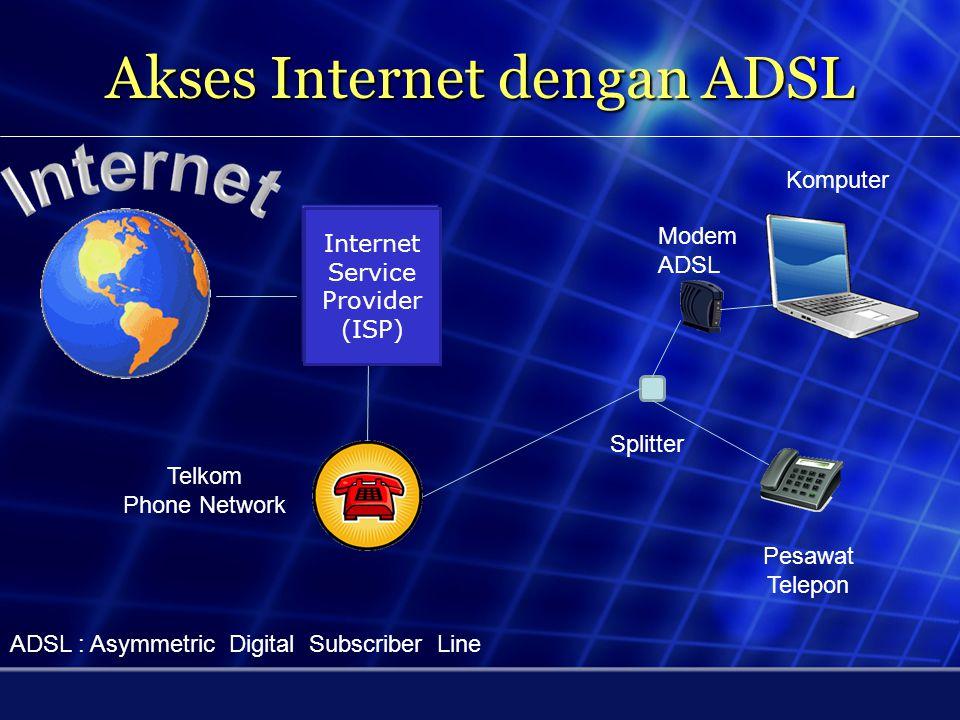 Akses Internet dengan ADSL
