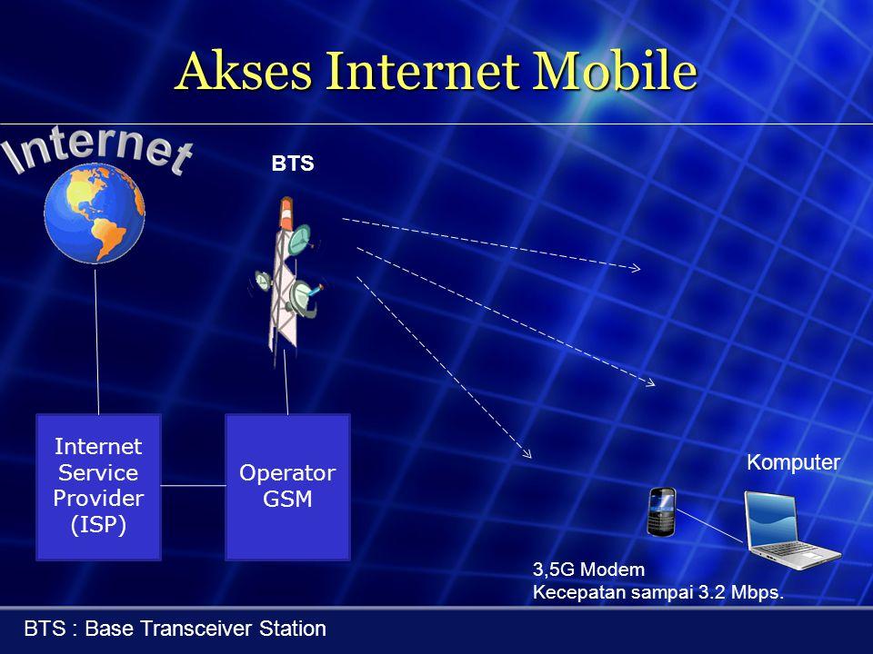 Akses Internet Mobile BTS Internet Service Provider (ISP) Operator GSM