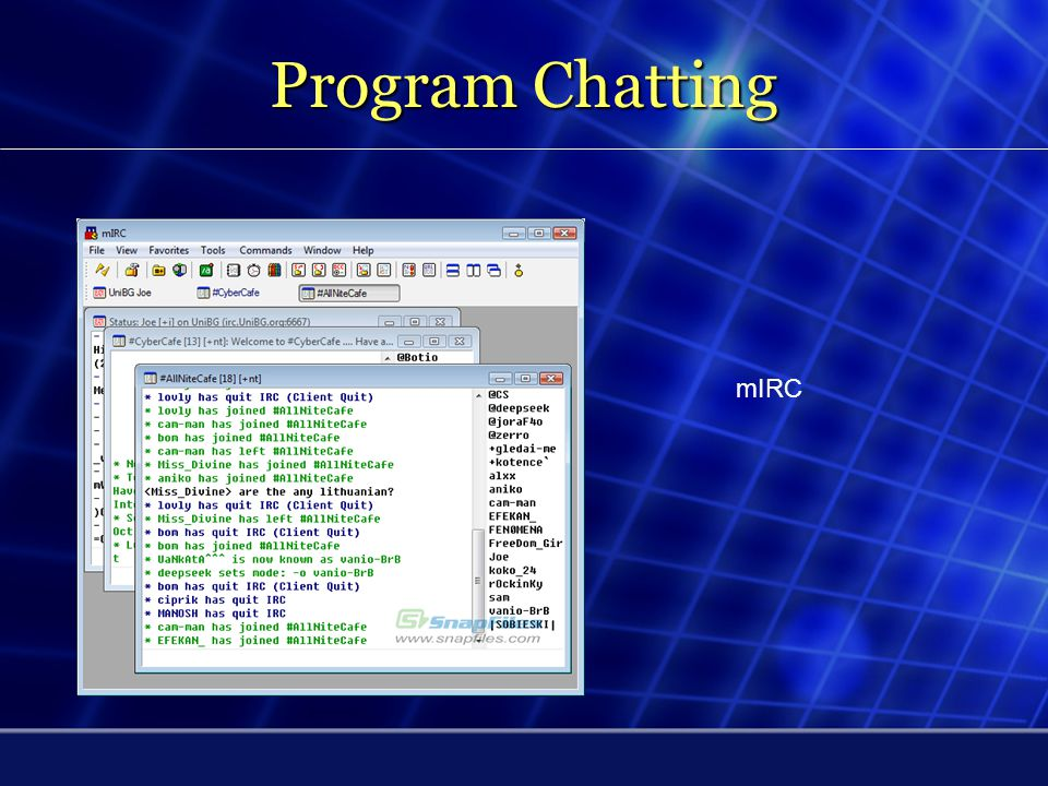 Program Chatting mIRC