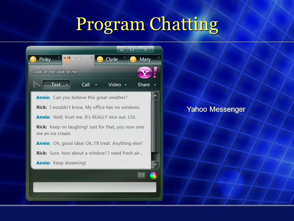 Program Chatting Yahoo Messenger