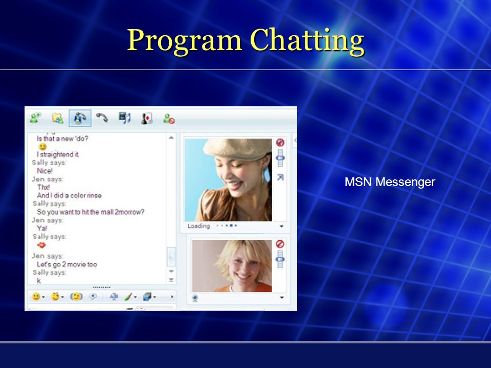 Program Chatting MSN Messenger
