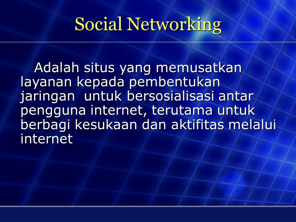 Social Networking