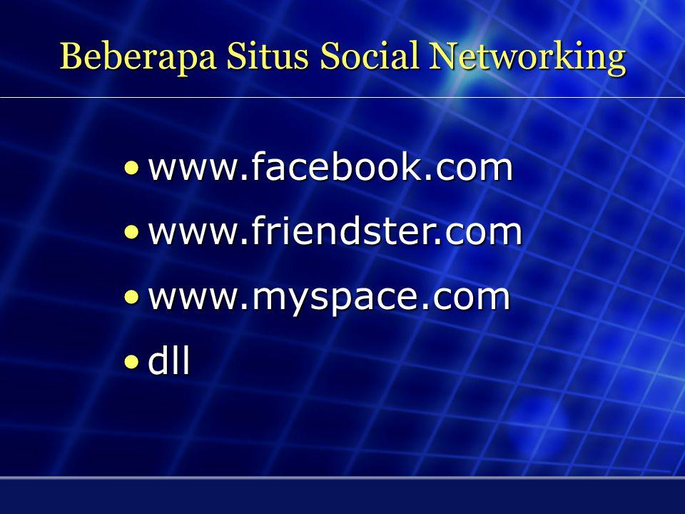 Beberapa Situs Social Networking