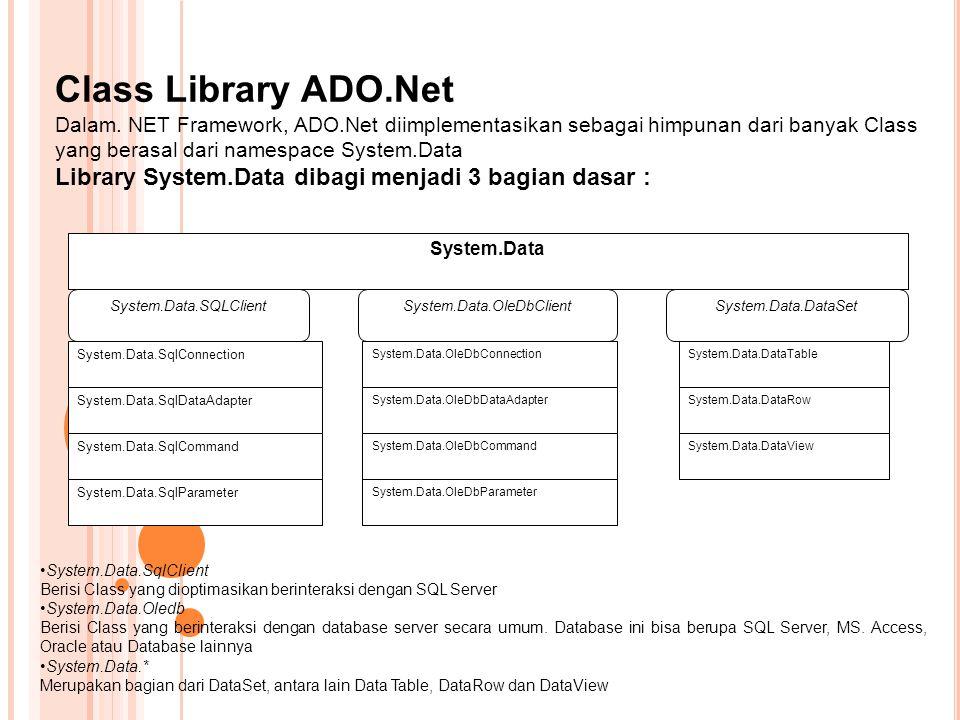 System.Data.OleDbClient
