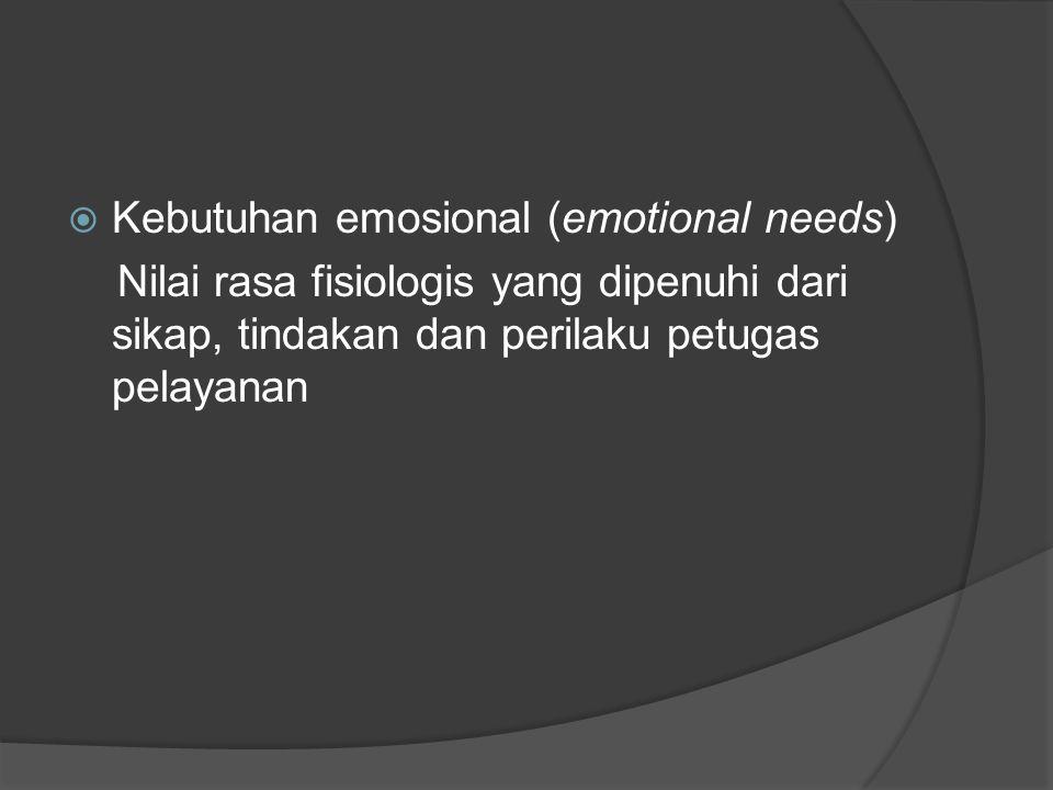 Kebutuhan emosional (emotional needs)