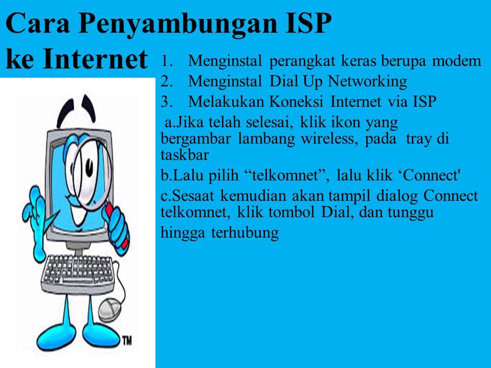 Cara Penyambungan ISP ke Internet